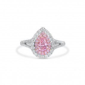 Light Pink Diamond Ring, 0.50 Ct. (1.15 Ct. TW), Pear shape, GIA Certified, 6361831962