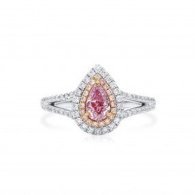 Light Pink Diamond Ring, 0.51 Ct. (0.91 Ct. TW), Pear shape, GIA Certified, 1369916892