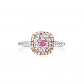 Very Light Pink Diamond Ring, 0.50 Ct. (0.91 Ct. TW), Radiant shape, GIA Certified, 7333291013