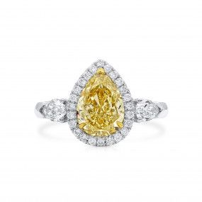 Fancy Brownish Yellow Diamond Ring, 2.16 Ct. (2.81 Ct. TW), Pear shape, GIA Certified, 2211101095