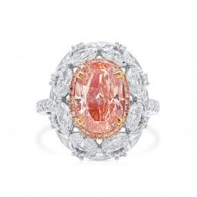 Fancy Pink Brown Diamond Ring, 3.62 Ct. (6.73 Ct. TW), Oval shape, GIA Certified, 6204806835