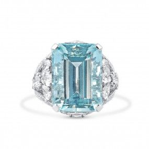 Natural Blue Aquamarine Ring, 14.25 Ct. (19.06 Ct. TW), IGL Certified, J90652116IL, Unheated