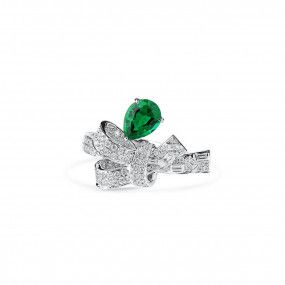 Natural Vivid Green Emerald Ring, 0.97 Ct. (1.59 Ct. TW), GRS Certified, GRS2020-028221