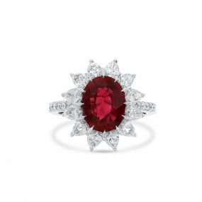 Natural Red Ruby Ring, 2.73 Ct. (5.11 Ct. TW), Unheated