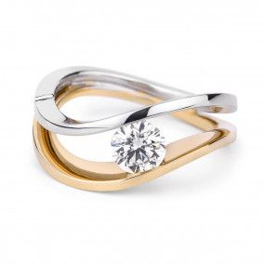 White Diamond Ring, 0.59 Carat, Round shape