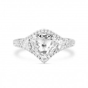 White Diamond Ring, 2.02 Ct. (2.53 Ct. TW), Heart shape, GIA Certified, 2166863060