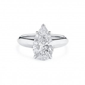White Diamond Ring, 3.03 Carat, Pear shape, GIA Certified, 2208794198