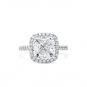 White Diamond Ring, 5.01 Ct. (5.67 Ct. TW), Cushion shape, GIA Certified, 6204142110