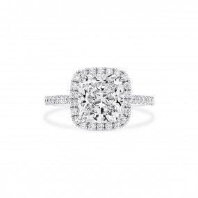 White Diamond Ring, 3.23 Ct. (3.67 Ct. TW), Cushion shape, GIA Certified, 2276478466