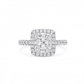 White Diamond Ring, 2.02 Ct. (2.86 Ct. TW), Cushion shape, GIA Certified, 1349206219