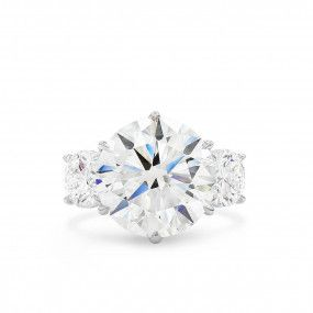 White Diamond Ring, 9.07 Ct. (11.10 Ct. TW), Round shape, GIA Certified, JCRW05495446