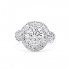 White Diamond Ring, 3.19 Ct. (5.23 Ct. TW), Round shape, GIA Certified, 2336446031
