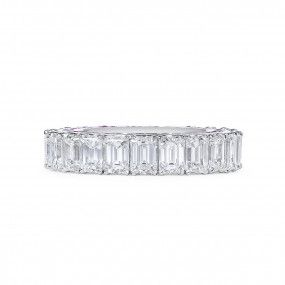 White Diamond Ring, 6.99 Ct. (8.98 Ct. TW), Emerald shape