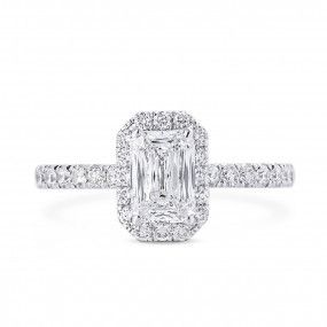 White Diamond Ring, 1.54 Carat, Cushion shape