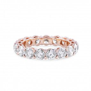 White Diamond Ring, 3.70 Carat, Round shape