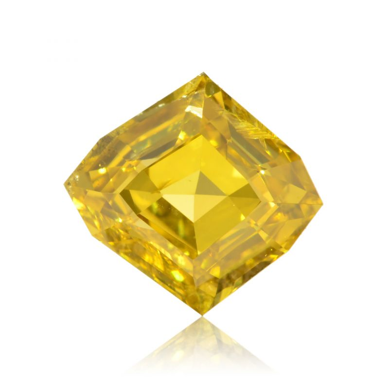 0.70 Carat, Fancy Deep Yellow Diamond, Octagonal shape, GIA Certified, 2151493005