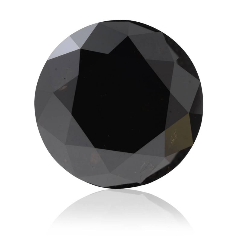 6.93 Carat, Fancy Black Diamond, Round shape, GIA Certified, 2171633824