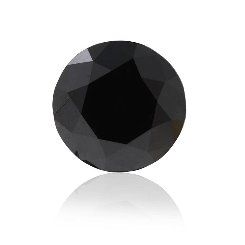 2.92 Carat, Fancy Black Diamond, Round shape, GIA Certified, 6187489242