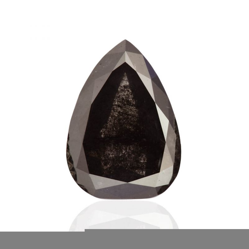 2.87 Carat, Fancy Black Diamond, Pear shape, GIA Certified, 2151778132