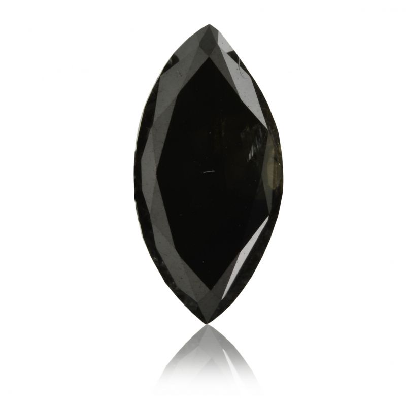 1.03 Carat, Fancy Black Diamond, Marquise shape, GIA Certified, 2151958154