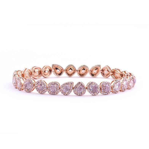 Fancy Light Pink Diamond Bracelet, 7.33 Ct. TW, Oval shape, GIA Certified, JCBF05369094