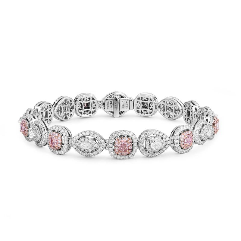 Fancy Light Pink Diamond Bracelet, 1.37 Ct. (5.26 Ct. TW), Mix shape, EG_Lab Certified, J5826278341