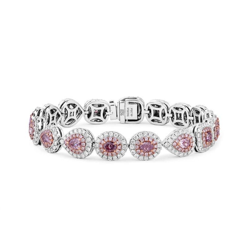 Fancy Pink Diamond Bracelet, 3.16 Ct. (7.52 Ct. TW), Mix shape, GIA Certified, JCBF05418691