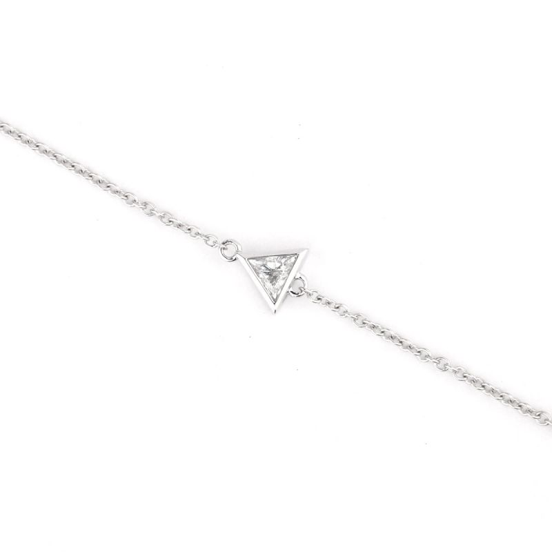 White Diamond Bracelet, 0.08 Carat, Triangle shape