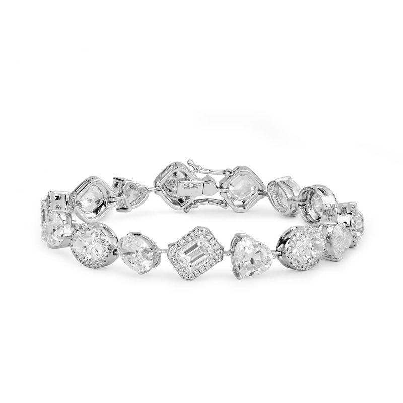 Timeless Elegance Diamond Bracelet, 18.59 Ct. TW, Mix shape, GIA Certified, JCBW05390702