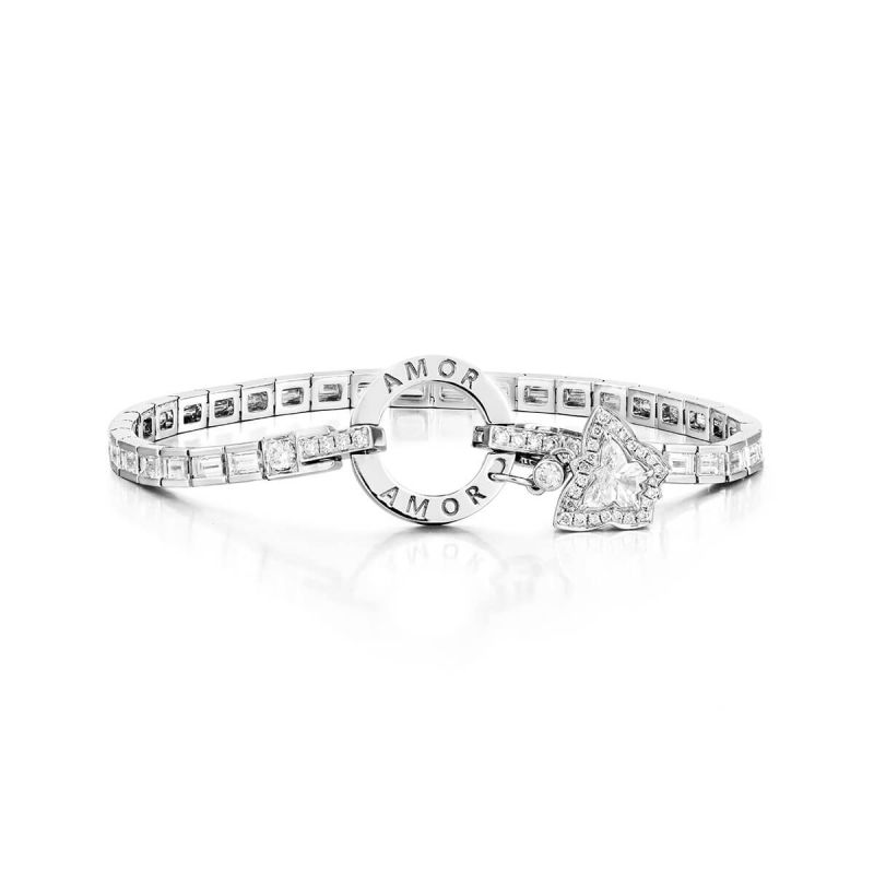White Diamond Bracelet, 4.19 Ct. (4.54 Ct. TW), BMB shape, EG_Lab Certified, J5926074942