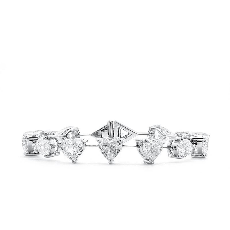 White Diamond Bracelet, 13.10 Ct. (13.71 Ct. TW), Mix shape, GIA Certified, JCBW05432216