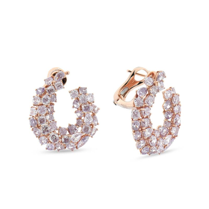 Fancy Light Pink Diamond Earrings, 8.97 Ct. TW, Mix shape, EG_Lab Certified, J5826145031
