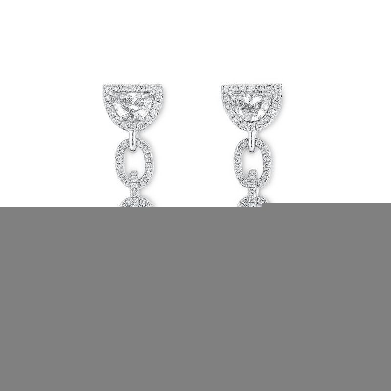 White Diamond Earrings, 2.02 Ct. (3.33 Ct. TW), Oval shape, GIA Certified, JCEW05428138