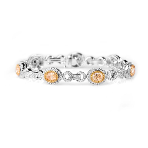 Fancy Yellow Diamond Bracelet, 10.37 Ct. TW, Oval shape