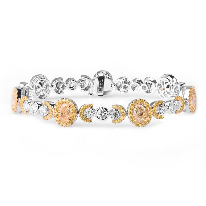 Fancy Yellow Diamond Bracelet, 10.96 Ct. TW, Oval shape