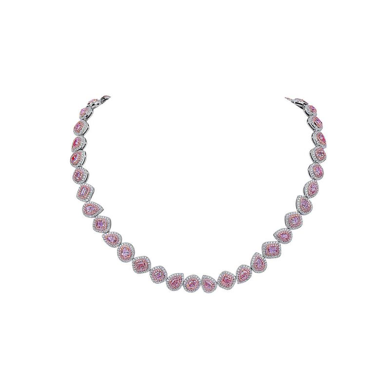 Fancy Pink Diamond Necklace, 11.52 Ct. (18.70 Ct. TW), Mix shape, GIA Certified, JCNF05443121
