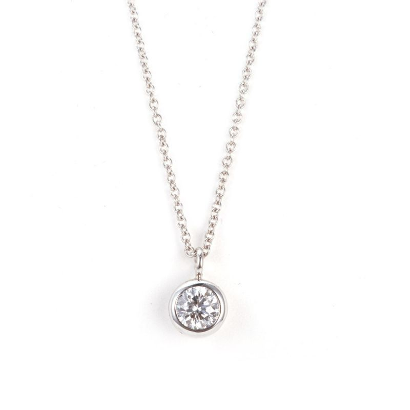 White Diamond Necklace, 0.35 Carat, Round shape, IGI Certified, 134459479