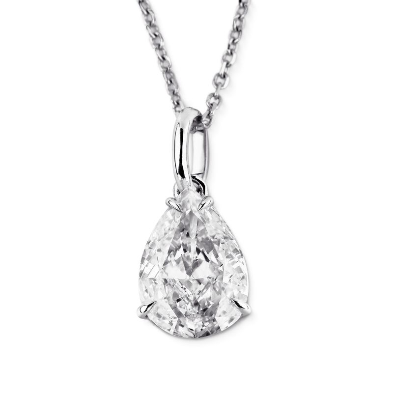 White Diamond Necklace, 1.20 Ct. TW, Pear shape, GIA Certified, 2166905231