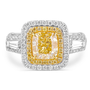 White Diamond Ring, 2.95 Carat, Cushion shape, GIA Certified, 1182017615