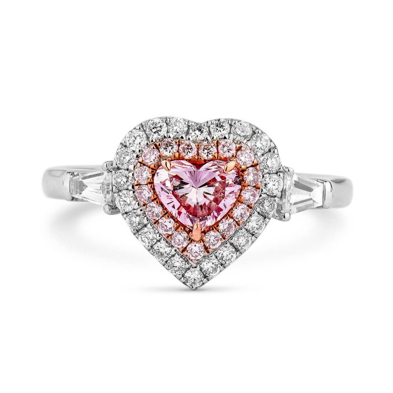 Fancy Light Pink Diamond Ring, 0.90 Ct. TW, Heart shape, GIA Certified, 5206462191