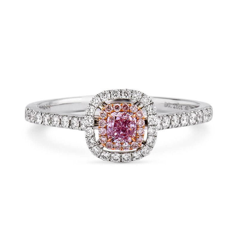 Fancy Purple Pink Diamond Ring, 0.48 Ct. TW, Radiant shape, GIA Certified, 6183351671