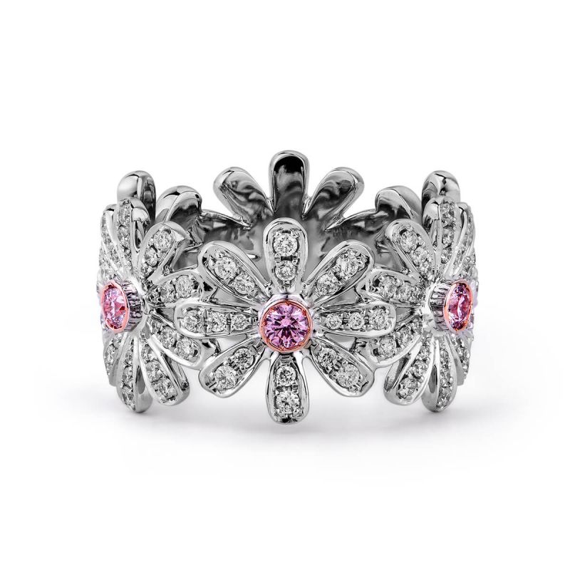 Fancy Pink Diamond Ring, 0.92 Ct. TW, Round shape