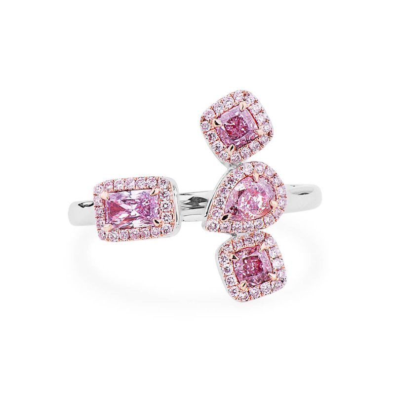 Fancy Light Purplish Pink Diamond Ring, 0.86 Ct. (1.06 Ct. TW), Pear shape, GIA Certified, JCRF05439608