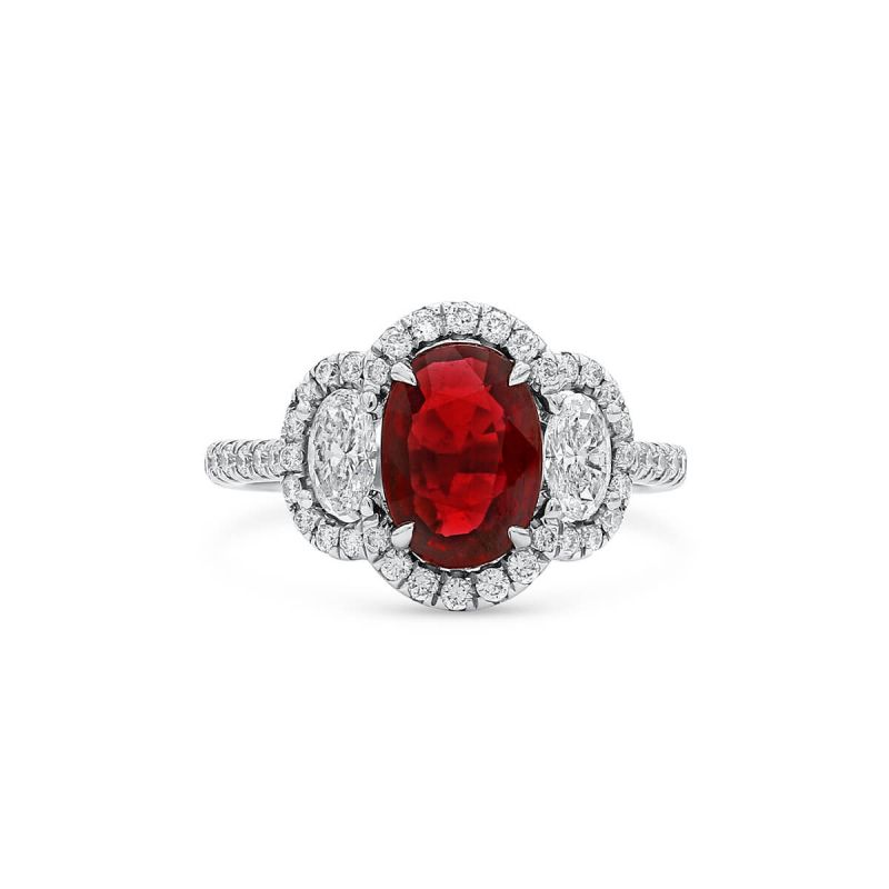 Natural Red Ruby Ring, 2.73 Ct. TW, GIA Certified, 1186813982, Unheated