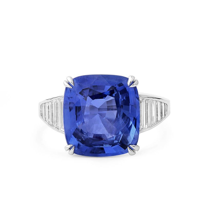 Natural Blue Sapphire Ring, 0.96 Carat, Unheated