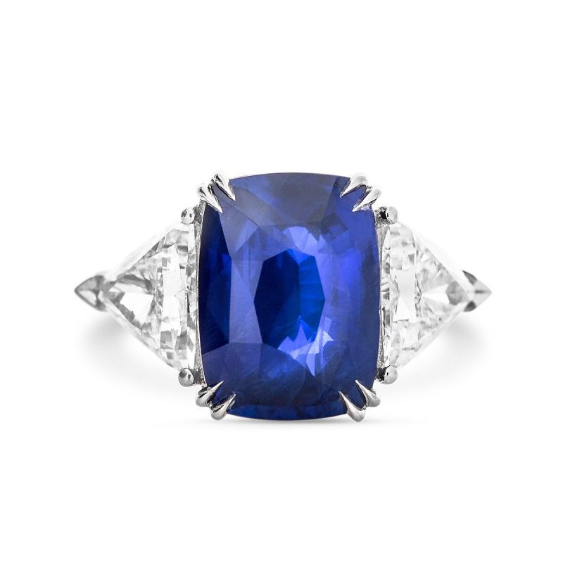 Natural Vivid Blue Sri-Lanka Sapphire Ring, 9.06 Ct. TW, IGL Certified, JCRG05313848, Unheated