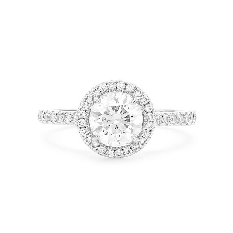 White Diamond Ring, 1.02 Ct. (1.52 Ct. TW), Round shape, GIA Certified, 5161430917