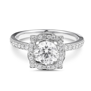 White Diamond Ring, 1.42 Carat, Round shape, IGI Certified, F1R24094