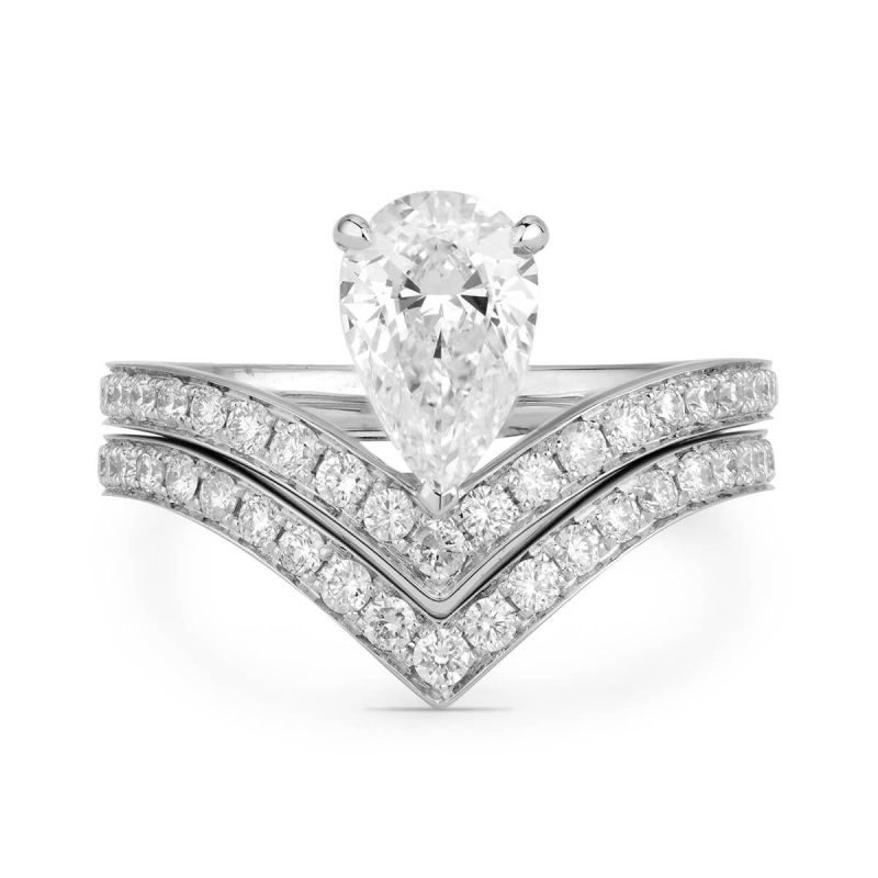 White Diamond Ring, 1.59 Ct. TW, Pear shape, GIA Certified, 1275690311