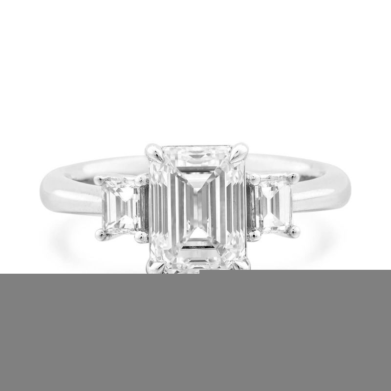 White Diamond Ring, 2.37 Ct. TW, Emerald shape, GIA Certified, 1279981885